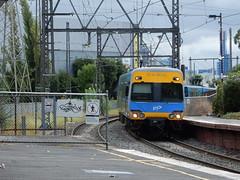 Train Approaching Windsor Station (mikecogh) Tags: prahran train railwaytracks platform approaching electric ptv steel