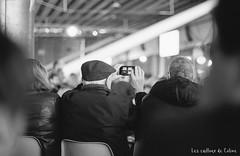 People (www.lescaillouxdecoline.com) Tags: people smartphone elderly meeting nikon fm2 50mm 14 ai kodak trix 400