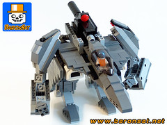 Alpha-Fighter-03 (baronsat) Tags: lego mecha robot model custom moc japan new armored battle mech figure toy scifi military war meka anime japanese exo gun cannon future space armor machine piloted walker vintage tv hobby baronsat gundam macross robotech transformable battroid fighter