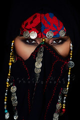 Falcon Rising (DesertWindsPhotography) Tags: photography jewelry makeup art blue gold red arab arabic uae qatar saudi arabia black colorful morocco fabric hijab women portrait indoor bright background bedouin egypt egyptian مصر desert desertwinds