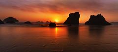 Dramatic Sunset at the Ocean ( Bandon Beach, OR) (Sveta Imnadze) Tags: bandon oregoncoast seascape sunset pacificnorthwest