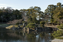Last Of The Light (DMeadows) Tags: davidmeadows dameadows davidameadows dmeadows japan japanese hikone castle history historic defence tourist tourism visit asia trip travel water reflect reflection reflections tree trees wood woodland wooden leaves garden gardens