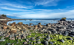 Rocky Cove (Kurt Evensen) Tags: norway longexposure water landscape shore nature leefilter sky le seascape rockyshore weather vestfold sea