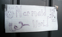 "CS Host's Mermaid World door sign • <a style=""font-size:0.8em;"" href=""http://www.flickr.com/photos/34843984@N07/14926461873/"" target=""_blank"">View on Flickr</a>"