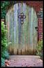 The Garden Door (gtncats) Tags: door wood church garden topazlab photographyforrecreation infinitexposure
