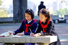 dilligent young pioneers (jonas_k) Tags: travel northkorea pyongyang dprk pjngjang