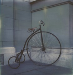 Day 3-1: I want to ride my bicycle (Triana T.) Tags: sanfrancisco polaroid sx70 pennyfarthing polaroidweek impossibleproject snapitseeit
