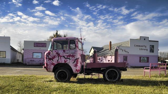 pink classic truck mainstreet jeep alberta wanham