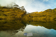 Reflection… Bachalpsee (2.265 m)... (A.K_Photography Hamburg) Tags: autumn sky snow mountains alps nature colors berg clouds zeiss landscape lights schweiz switzerland frozen nikon rocks suisse hiking plateau herbst first peak hike berge autumncolors highland grindelwald alpen svizzera bergsee swissalps berneroberland bachalpsee oberwallis kanton bachsee berneralpen kantonbern d810 europeanalps zf2 nikond810 distagont2821 zeissdistagont2821zf2 esel2689m faulhorn2681m grindelwaldfirst2167m reetirötihorn2757m simelihorn2751m widderfeldgrätli2632m