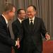 World Bank Group President, Jim Yong Kim  and Secretary-General of the United Nations, Ban Ki-moon