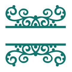 split-dotted-swirl-flourish (emily dyer) Tags: silhouette svg papercut diecut