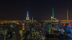 The Empire State Building - taken from the Top of the Rock,  Rockefeller Center, NYC (LKungJr) Tags: nyc newyork nightscape rockefellercenter f empirestatebuilding topoftherock pentaxk01 15mmf4edallimited