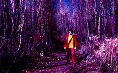 img053 (Photo Taker #9) Tags: kodakeir colorinfraredfilm colorinfrared infrared 35mm nikonfg elkislandpark alberta selfportrait aerochrome