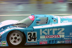 Toyota 92C-V - Roland Ratzenberger, Eddie Irvine & Eje Elgh in the Esses at the 1992 Le Mans (Karting Nord) Tags: mans le 1992
