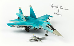 Rammer & Sukhoi Fullback (Andy R Moore) Tags: canon zeppelin kit 172 scalemodel rammer eos650d
