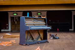 BAC Piano (ljpup) Tags: wood london bag centre arts piano jo plastic battersea legacy bac cariier hellier