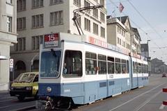 1998-09-24 Zrich Tramway Nr.2063 (beranekp) Tags: switzerland suisse swiss tram zrich tramway strassenbahn tramvaj tranvia 2063 elektrika elektrika alina