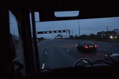 (ziemowit.maj) Tags: london angle earlymorning straightphotography urbanfragment onthewaytotheairport ef35mmf14l greylight canon5dmkiii coachfrontwindowview earlymorninghighway