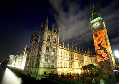 Poppies projected onto Elizabeth Tower for Remembrance Sunday (UK Parliament) Tags: bigben poppies houseofparliament remembrancesunday