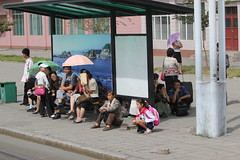 Waiting for the Tram in Pyongyang (Ray Cunningham) Tags: north korea pyongyang dprk coreadelnorte