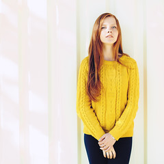 IMG_1516_800 (Serge Zap) Tags: street city autumn portrait people woman sunlight white cute girl beautiful face look fashion yellow female hair naughty relax happy person one sweater cool nice model women serious outdoor background candid young handsome lifestyle redhead teen attractive casual cheerful toned caucasian