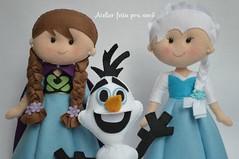 Personagens Frozen Anna, Elsa e Olaf (Ana Ribeiro2010) Tags: anna olaf frozen felt feltro decoração elsa