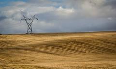 Pylon (deltic17) Tags: england tower clouds countryside pylon electricity fields hillside cathead rollingfields highmarnhampowerstation