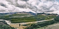 The land of the wild (HOWLD) Tags: wild people panorama cloud snow mountains cold nature birds alaska nikon human denalinationalpark nikond90 afsdxvrzoomnikkor18200mmf3556gifedii