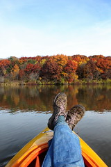 IMG_9156 (Brandi Bonde) Tags: autumn lake color fall leaves kayak kayaking