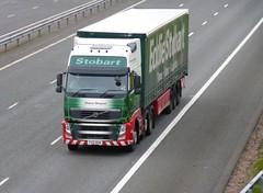 H4854 - PX61 BHW (Cammies Transport Photography) Tags: truck volvo lorry margaret eddie fh flyover sheena esl m74 lockerbie stobart eddiestobart px61bhw h4854