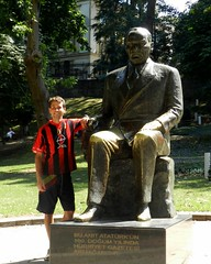 me with ataturk (adamcmarshall) Tags: street travel dog streetart bird art tourism animal animals club digital cat turkey photography graffiti photo photographer image photos turkiye picture pic istanbul images photograph spraypaint