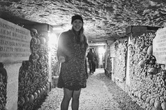 bone-lovin' (nosha) Tags: bw paris france girl beauty skulls mort bones cw catacombs 2014 nosha paris2014