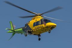 Air Ambulance G-HEMZ (John Ambler) Tags: from st hospital john photos aviation air pad off ambulance helicopter photographs marys service taking heli ambler johnambler ghemz