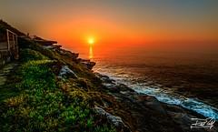 No Clouds? No Worries! (rkp293) Tags: sunset orange sun sunlight seascape green water sunrise landscape photography rocks waves sydney australia landmark 500px ifttt visitnsw
