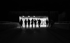 Shadows in Hamburg (Fotograf aus Passion.) Tags: street city bridge shadow white black alex train 35mm germany deutschland photography prime licht europa europe fuji fotografie photographie shadows fb f14 eingang hamburg tunnel adobe crop stadt ubahn fujifilm alexander brücke landungsbrücken bahn hvv schatten serie schwarz dunkel serial haltestelle lightroom hansestadt 160 sek xf ausgang weis iso500 düster alpha4 strase 23mm festbrennweite apsc xt1 grosstadt harbich strasenszene wwwalexharbichcom