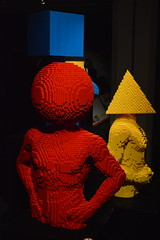 Square Torso, Red Torso and Yellow Torso (CoasterMadMatt) Tags: pictures old uk greatbritain autumn england people sculpture man brick london tower art english circle square person photography model october triangle gallery lego photos unitedkingdom britain united great models e