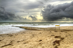 End of Summer (jumpers123) Tags: sea cloud storm beach dark seaside sand waves shore dorset groyne bournemouth