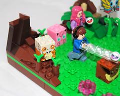 Pokemon Battle (Mr.Savath_Bunny) Tags: friends game anime fight lego nintendo puff battle jiggly pikachu pokemon blocks squirtle mega mew eevee pokeball minifigures bulbasaur bloks vileplume masterball