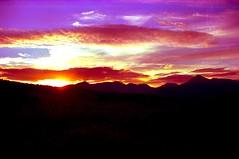 ARRAN MOUNTAIN RANGE AGAINST SETTING SUN (R STORNAWAY) Tags: sunset red sky sun mountains gold clyde range arran settingsun