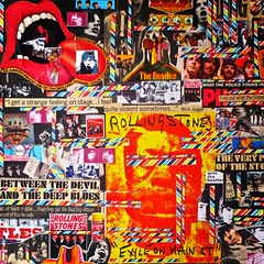 "Christian Montone 2014 Beatles Vs. Stones (Collage 24"" X 36"") Detail 1 (Christian Montone) Tags: art collage artwork graphics montage beatles 1960s 1970s rollingstones montone rockandroll vintagegraphics christianmontone"