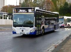 G3325 - BX64 WJJ (Cammies Transport Photography) Tags: street bus mercedes benz clyde coach flyer glasgow via mcgills braehead 906 killermont citaro g3325 bx64wjj