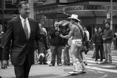 Naked Cowboy (FelixPagaimo) Tags: street new york city nyc people playing ny man men naked square photography cowboy play felix crowd business times guital pagaimo