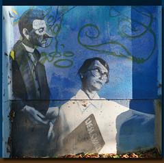 Liesl und Karl (mhobl) Tags: munich mnchen grafitti murales wallpainting wandmalerei muffathalle loomit karlvalentin lieslkarlstadt creativecreature