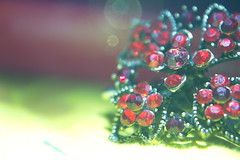 Stone light flower 2 (adiyatanan) Tags: flowers light red flower macro reflection colors closeup by canon photography crystals shine photos bokeh stones fineart jewelry explore precious refraction marbles 1855mm smoky reverse gems firstquality 600d gemsflower addiyatanan