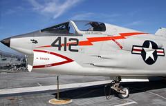 Vought F-8 Crusader 2 (ahisgett) Tags: san francisco california uss hornet oakland cv12 aircraft aeroplane