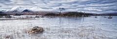 Lochan Crop. (stonefaction) Tags: snow ice landscape scotland frozen glencoe moor lochan rannoch a82 lochannahachlaise