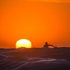 Racing the Sun (alexkess) Tags: orange sun beach water sunrise wanda surf sydney australia surfing nsw
