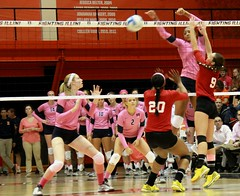 Criswell scores (RPahre) Tags: universityofillinois indianauniversity huffhall huff volleyball champaign illinois morgannecriswell robertpahrephotography copyrighted donotusewithoutwrittenpermission