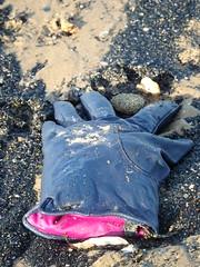 Posh Glove Amongst The Sea Coal (Munki Munki) Tags: beach sands lostglove redcar tideline seacoal qualityglove coathambeach