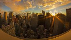 """Turn Around..."" (gimmeocean) Tags: nyc newyorkcity newyork manhattan rockefellercenter fisheye midtown flare empirestatebuilding hm 8mm bower sunflare metlifebuilding 30rockefellercenter newyorkcityskyline bower8mmfisheye"
